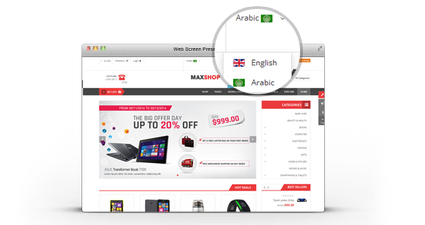 Maxshop - Multipurpose eCommerce Joomla Template