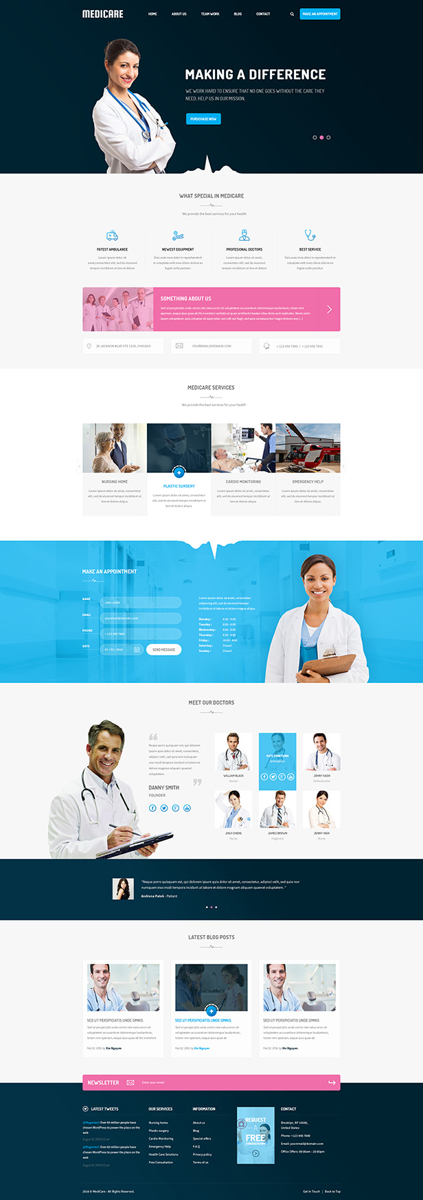 Medicare - Responsive Joomla Template For Medical Service Website