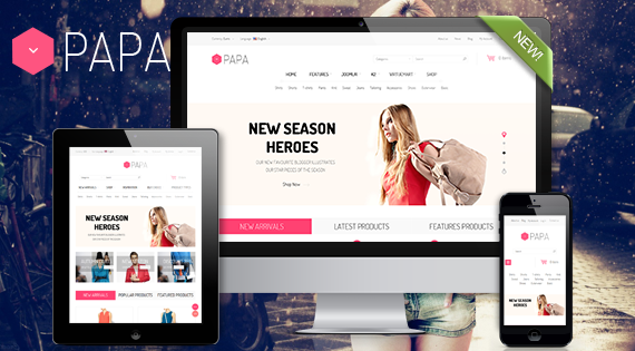 Papa - Responsive Multipurpose VirtueMart Template