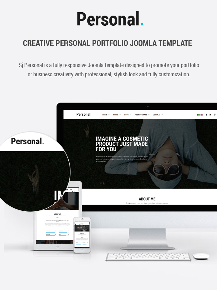 personal responsive multi purpose personal portfolio joomla template with page builder by. Black Bedroom Furniture Sets. Home Design Ideas