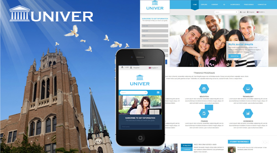 Univer - Responsive Layout