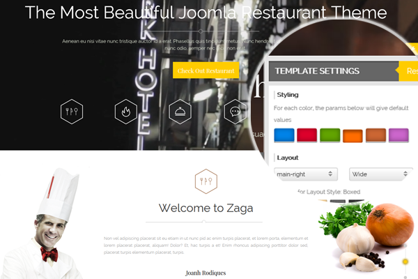 Zaga - 6 color presets
