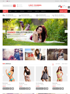 SW Love Fashion - Responsive WordPress Theme