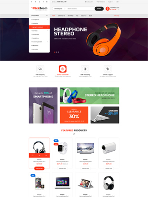 SW Clickboom - Responsive WooCommerce  Wordpress Theme