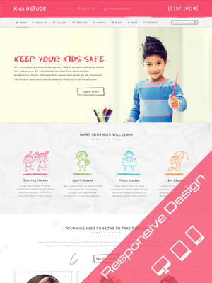 SW Kidshouse - Responsive WordPress Theme