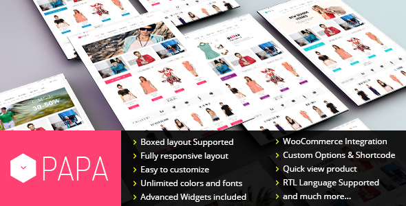 SW Papa - Responsive WordPress theme