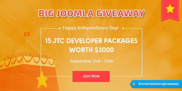 [SmartAddons Giveaway] Celebrate Independence Day with big Joomla Giveaways ($3000 Value)