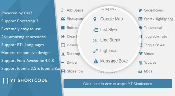 YT Shortcode - Joomla 3.x Plugin