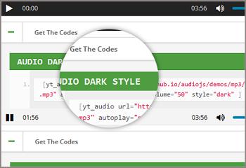 audio shortcode