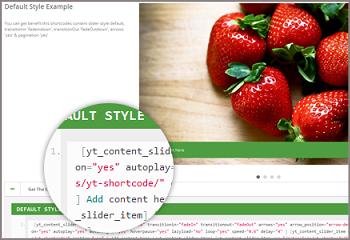 content slider shortcode