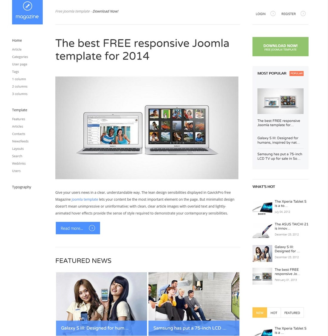 Best 10 free news magazine joomla templates 2015 for Jooma templates