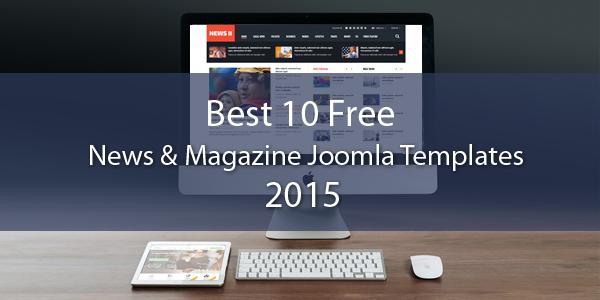 Best 10 FREE News & Magazine Joomla Templates 2015