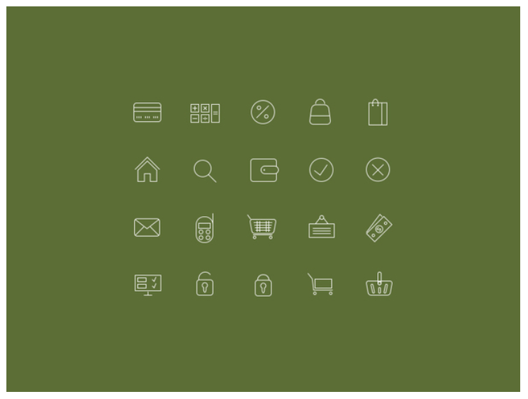 Thin Icons for Online Shops