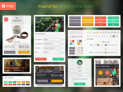 Free UI Kit for Online Store