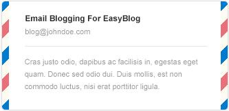 Email Blogging