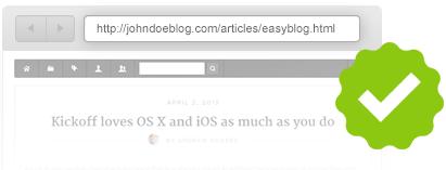 Search engine friendly url