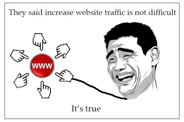 Simple methods to increase website traffic