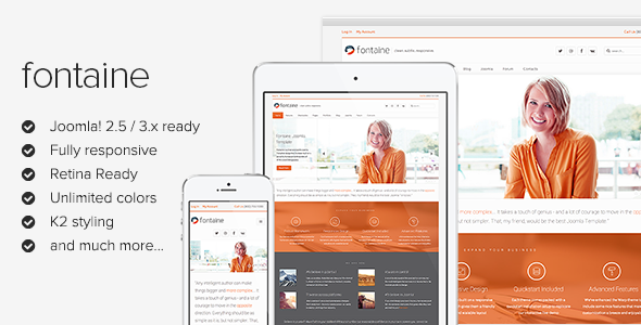 Best Joomla Templates for March- Fontaine
