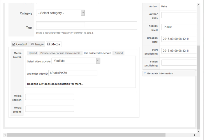 submit articles to Cms portal