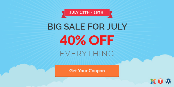 Big sale for July