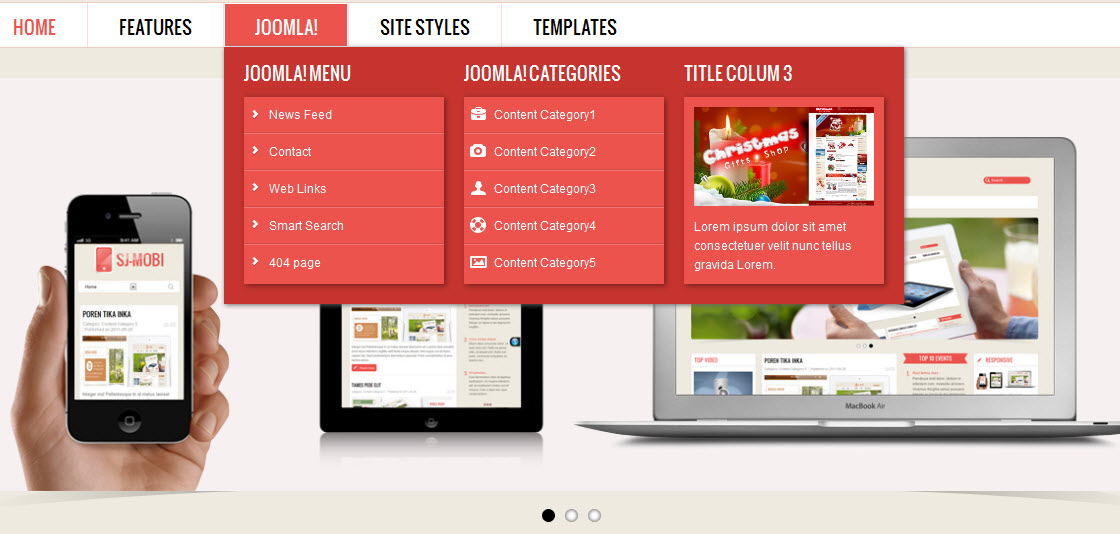Sj mobi template userguide for Joomla backend templates